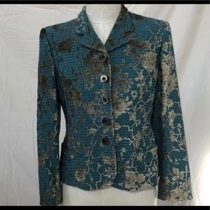Carlisle Italian  floral jacquard Silk Wool Jacket